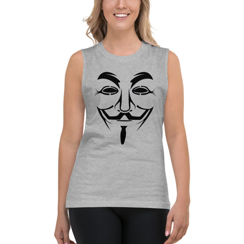 Anonymous  - Muscle Shirt (black text)