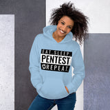 Eat sleep pentest repeat - Unisex Hoodie (white)