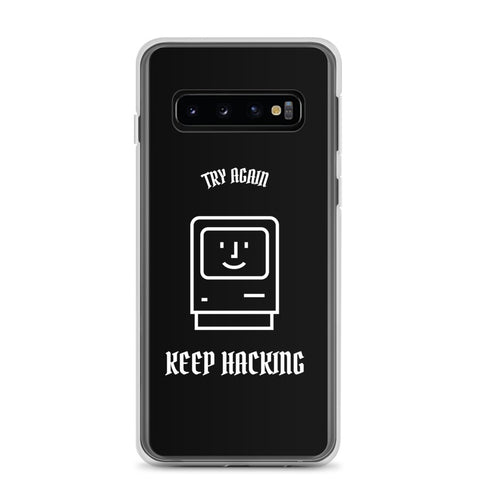 Keep hacking - Samsung Case (white text)