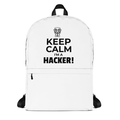 Keep Calm I'm a hacker! - Backpack