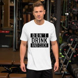 Don't drink and click - Short-Sleeve Unisex T-Shirt (white)