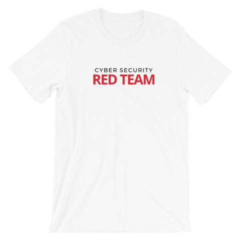 Cyber security red team - Short-Sleeve Unisex T-Shirt (white)