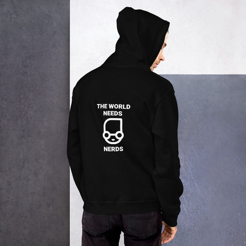 The world needs nerds  - Unisex Hoodie (white text)