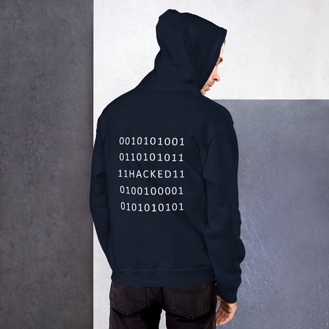Hacked - Unisex Hoodie (white text)