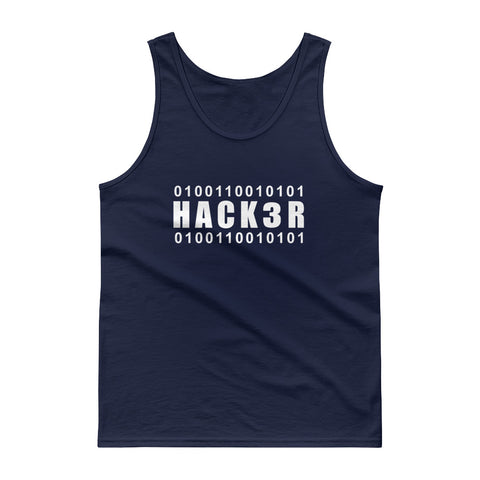 0100110010101  Hack3r - Tank top (white text)
