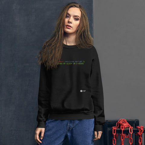 8 hours of sleep in 3 hours - Unisex Sweatshirt