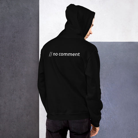 no comment - Unisex Hoodie (with back design)