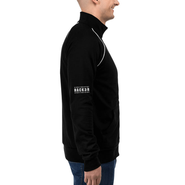 0100110010101  Hack3r - Piped Fleece Jacket