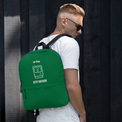 Keep hacking - Backpack (green)