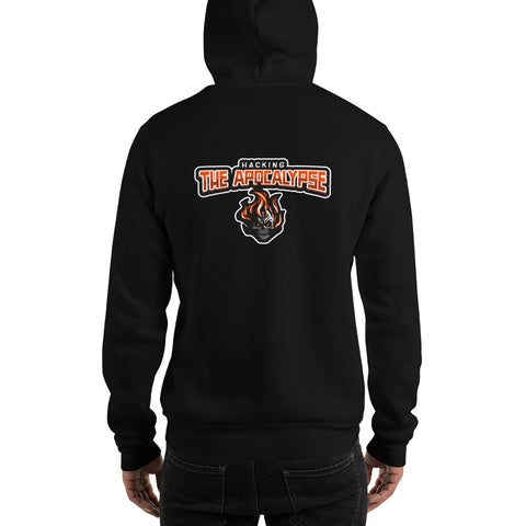 Hacking the apocalypse v1 - Unisex Hoodie (with back design)