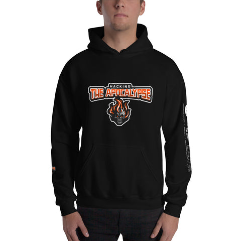 Hacking the apocalypse v1 - Unisex Hoodie (with all sides design)