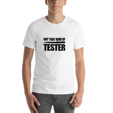 Not that kind of pen tester - Short-Sleeve Unisex T-Shirt (black text)