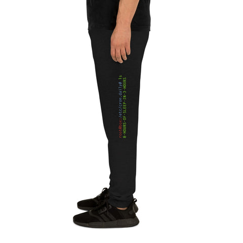 8 hours of sleep in 3 hours - Unisex Joggers