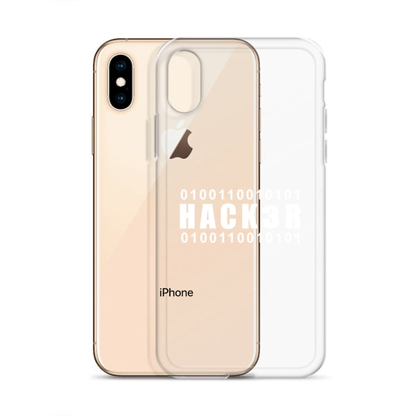 0100110010101  Hack3r - iPhone Case (white text)