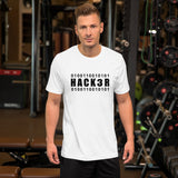 0100110010101 Hack3r - Short-Sleeve Unisex T-Shirt (black text)