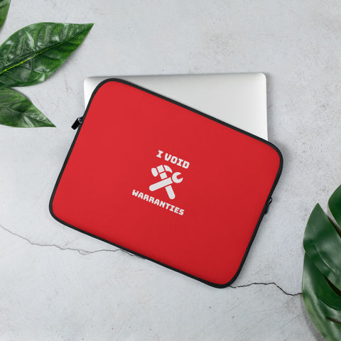 I void warranties - Laptop Sleeve (red)
