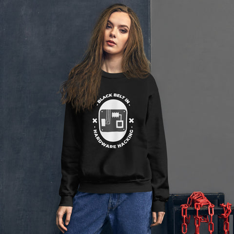 Black belt in hardware hacking - Unisex Sweatshirt