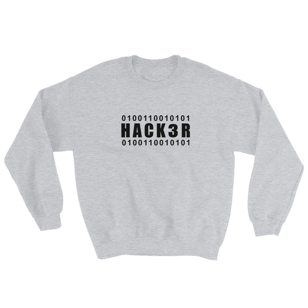 0100110010101 Hack3r - Sweatshirt (black text)