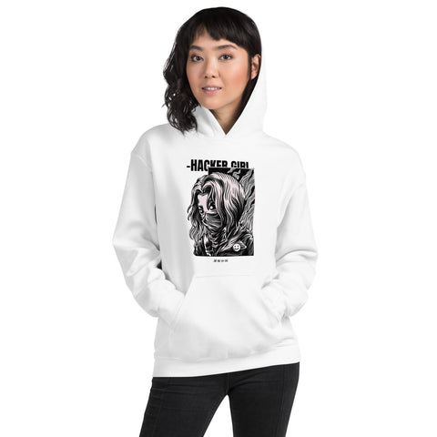 Hacker girl - Unisex Hoodie (black text)