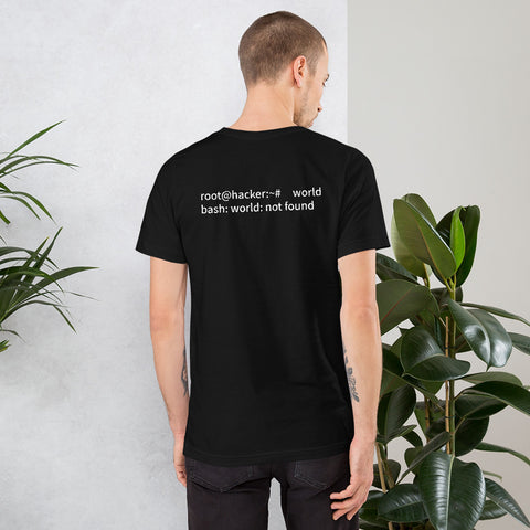 Linux Tweaks - world not found - Short-Sleeve Unisex T-Shirt