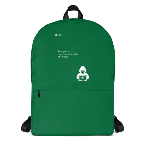 You can hack the world - Backpack (green)