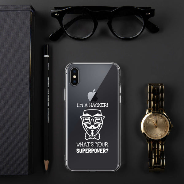 I'm a hacker! What's your superpower? - iPhone Case