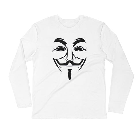 Anonymous - Long Sleeve Fitted Crew (black text)