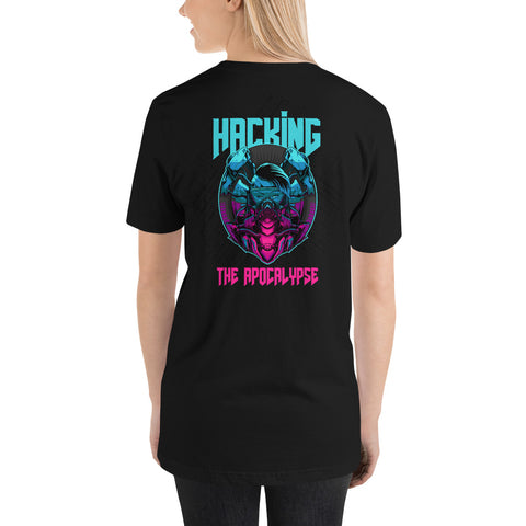 Hacking the apocalypse v2 - Short-Sleeve Unisex T-Shirt (with back design)