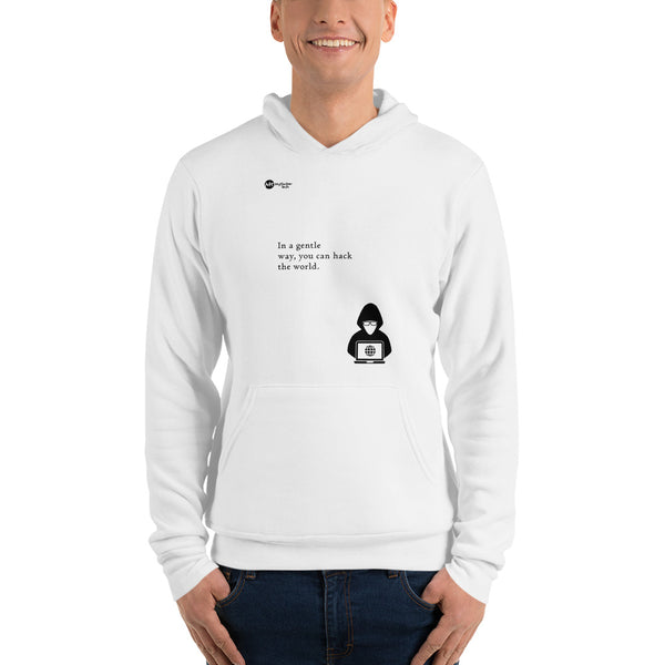 You can hack the world - Unisex hoodie (black text)