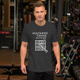 Hackers think outside the box - Short-Sleeve Unisex T-Shirt
