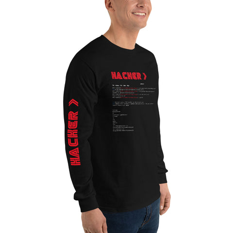 Hacker v3 - Men's Long Sleeve Shirt
