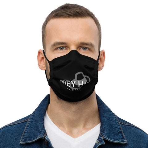 Grey Hat Hacker -Premium face mask