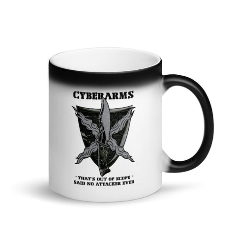 CyberArms - Matte Black Magic Mug (black design)