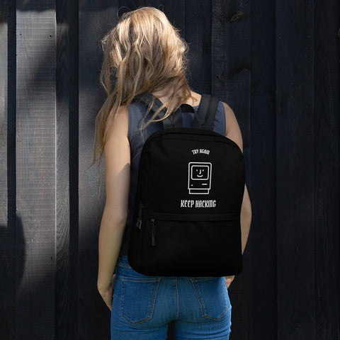 Keep Hacking - Backpack (white text)