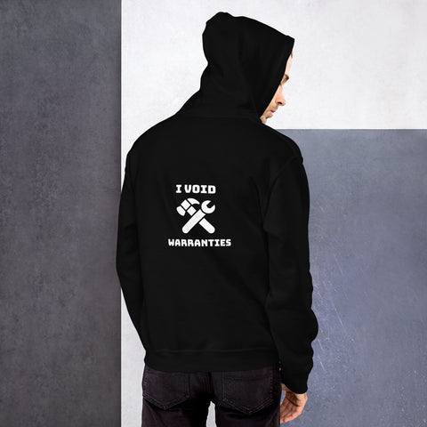 I void warranties - Unisex Hoodie (white text)
