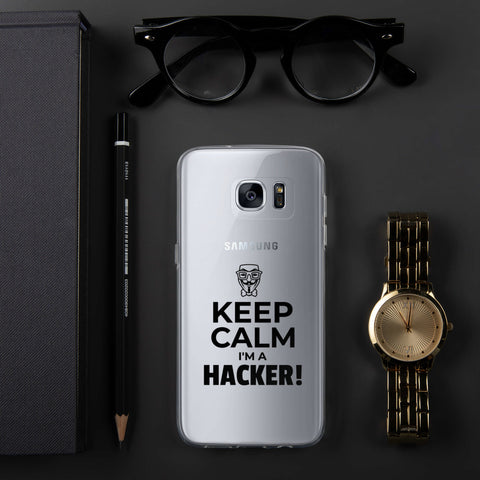 Keep Calm I'm a hacker! - Samsung Case (black text)