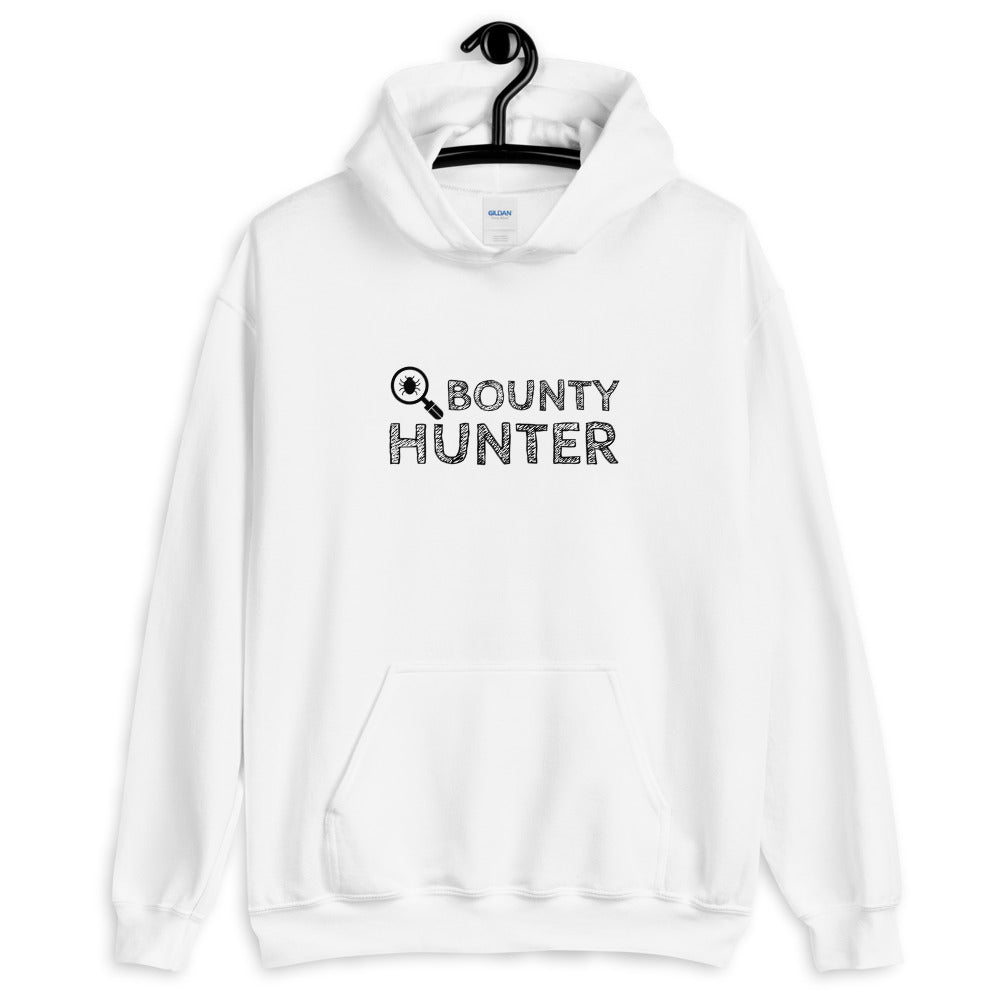Bug bounty hunter - Hooded Sweatshirt (black text)