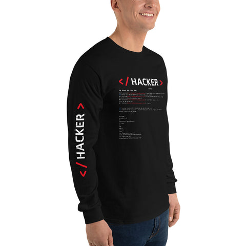 Hacker v.1 - Men's Long Sleeve Shirt