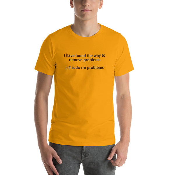 I have found the way to  remove problems - Short-Sleeve Unisex T-Shirt (Black text)