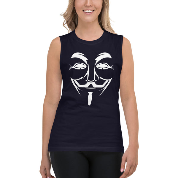 Anonymous  - Muscle Shirt (white text)