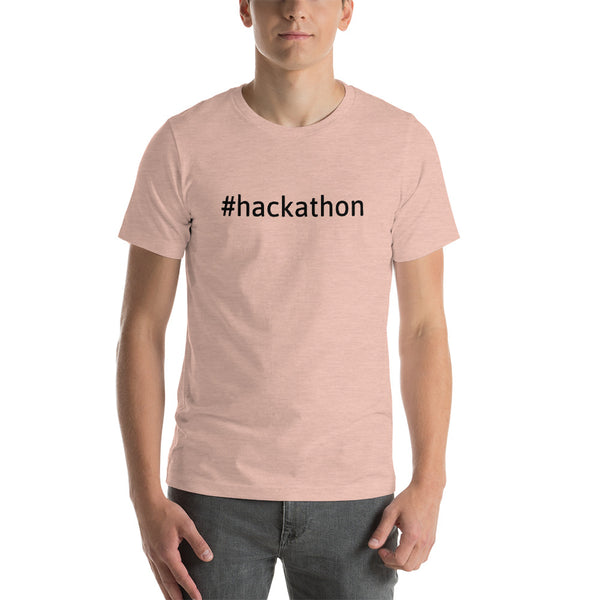 Hackathon - Short-Sleeve Unisex T-Shirt (black text)