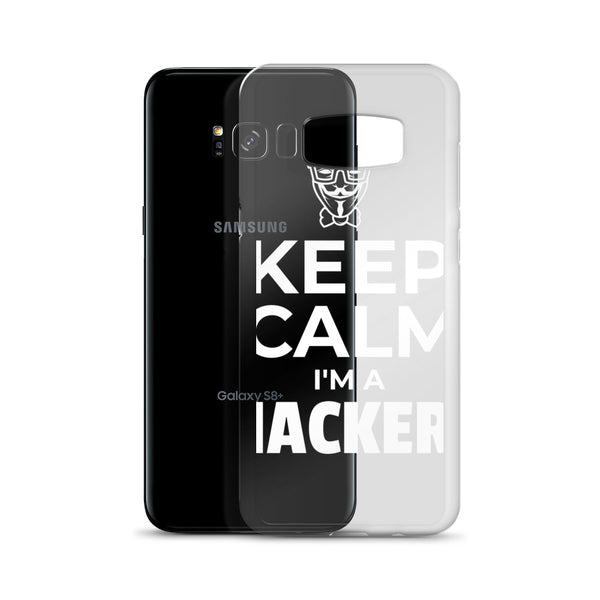Keep Calm I'm a hacker!  - Samsung Case (white text)
