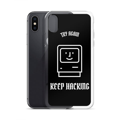 Keep hacking - iPhone Case (white text)