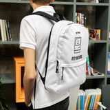 Keep hacking - Backpack (black text)