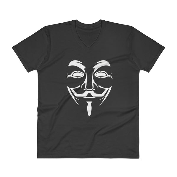 Anonymous  - V-Neck T-Shirt (white text)