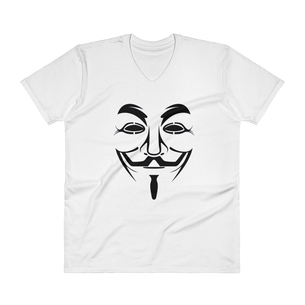 Anonymous - V-Neck T-Shirt (black text)