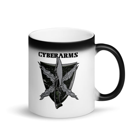 CyberArms - Matte Black Magic Mug (black design no text)
