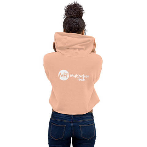 MyHackerTech Classic - Crop Hoodie (with back design)