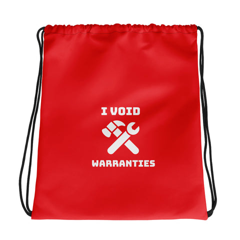 I void warranties - Drawstring bag (red)