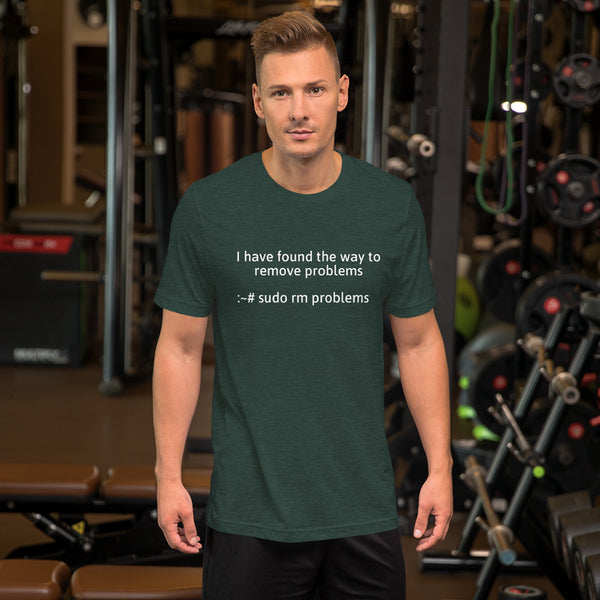 I have found the way to remove problems - Short-Sleeve Unisex T-Shirt (White text)